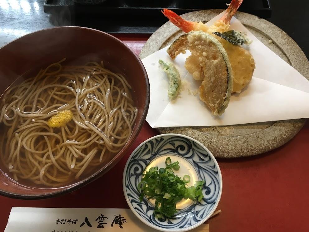 徳島八雲庵の天ぷらそば